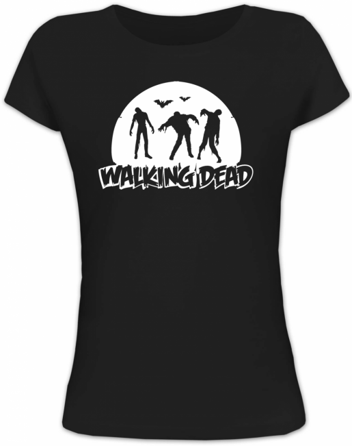Shirtstreet24, WALKING DEAD, Halloween Grusel Lady / Girlie Funshirt Fun Shirt