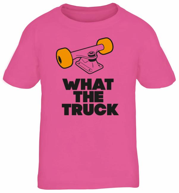 What The Truck, Skateboard Longboard Kids Kinder Fun T-Shirt Funshirt